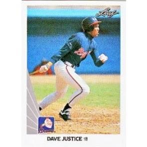1990 Leaf Dave Justice Rookie