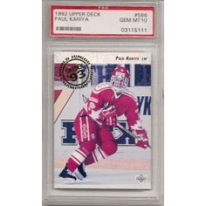 1992-93 Upper Deck Paul Kariya Rookie PSA Graded Gem Mint 10