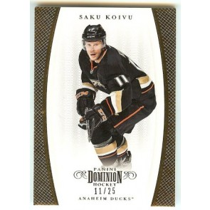 2011-12 Panini Dominion Saku Koivu Gold 11/25
