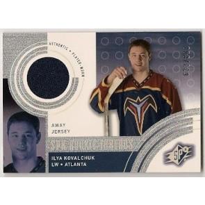 2001-02 Upper Deck SPX Ilya Kovalchuk Rookie Threads Rookie 633/800