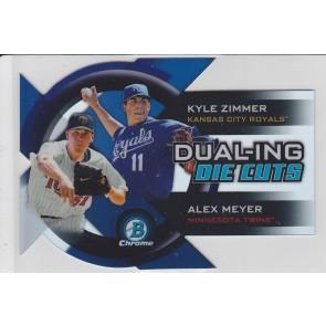 2014 Bowman Chrome Kyle Zimmer Alex Meyer Dual-Ing Refractor Die Cut