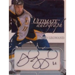 2003-04 In The Game In the Game David Legwand Ultimate Autograph 108/135