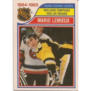 1985-86 O-Pee-Chee Mario Lemieux Rookie Scoring Leaders