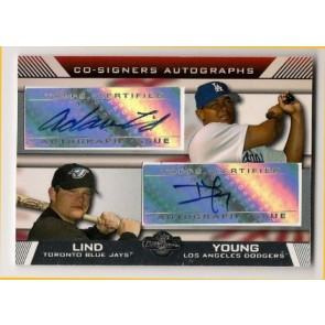 2007 Topps Co-Signers Delwyn Young Dual Autograph w/ Adam Lind