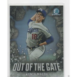 2016 Bowman Chrome Out of the Gate Kenta Maeda Refractor RC Rookie SP