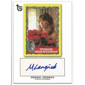 2013 Topps 75th Anniversary Maggie Langrick Autograph