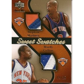 2007-08 Upper Deck Sweet Shot Stephon Marbury Mardy Collins Sweet Swatches 09/25