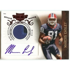 2010 Panini Plates & Patches Marcus Easley Rookie Autograph Patch 293/699