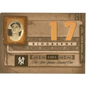 2005 Playoff Prime Cuts Roger Maris Biography 17