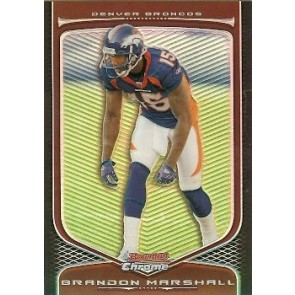 2009 Bowman Chrome Brandon Marshall Refractor