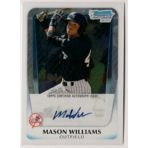 2011 Bowman Chrome Mason Williams Autograph Rookie