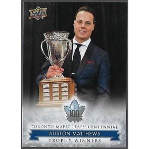 2017-18 Upper Deck Toronto Maple Leafs Centennial Auston Matthews Card #122 SP Hi Number