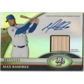 2011 Bowman Platinum Max Ramirez Autograph Game Used Memorabilia 0877/1166