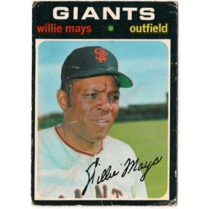 1971 O-Pee-Chee Willie Mays Single Condition Fair