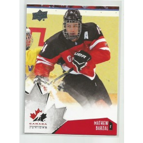 2015-16 Upper Deck Canada juniors Mathew Barzal #80