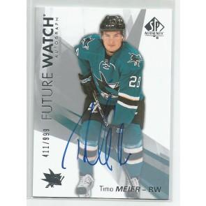 2016-17 SP Authentic Timo Meier SPA Future Watch Autograph 411/999