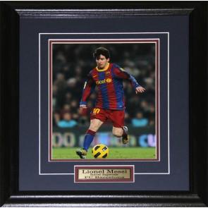 Lionel Messi Barcelona FC Soccer 8x10 frame