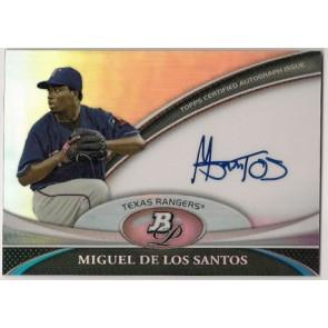 2011 Bowman Platinum Miguel De Los Santos Autograph