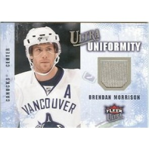 2008-09 Fleer Ultra Brendan Morrison Uniformity Authentic Jersey