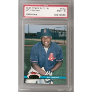 1991 Topps Stadium Club Mo Vaughn Rookie Graded PSA 9 Mint