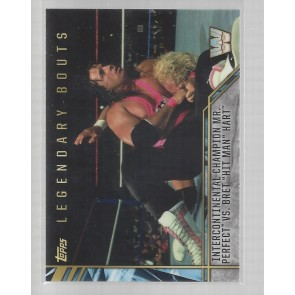 2017 TOPPS LEGENDS OF WWE Legendary Bouts #10 MR PERFECT vs BRET HIT MAN HART