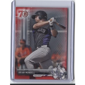 2017 Bowman BRIAN MUNDELL RC RED PAPER Parallel 70TH ANNIVERSARY ROCKIES SP