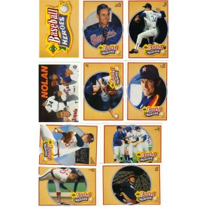 1990 Upper Deck Nolan Ryan Baseball Heroes Set Complete with Header