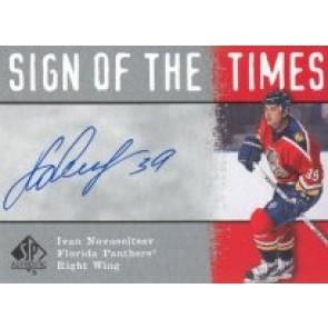2000-01 Upper Deck SP Authentic Ivan Novoseltsev Sign of the Times