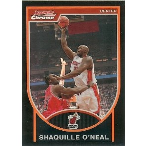 2007-08 Bowman Chrome Shaquille O'Neal Orange Refractor 143/199