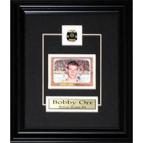 Bobby Orr Boston Bruins Replica Rookie Card frame