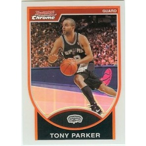 2007-08 Bowman Chrome Tony Parker Refractor 205/299