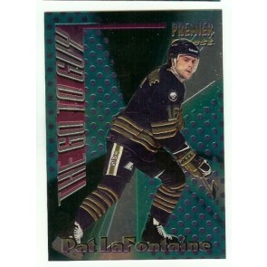 1994-95 TOPPS PREMIER THE GO TO GUY PAT LAFONTAINE Insert Card # 6 SABRES