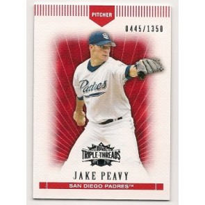2007 Topps Triple Threads Jake Peavy Single 0445/1350
