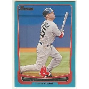 2012 Bowman Blue Card #141 Dustin Pedroia Boston Red Sox 440/500