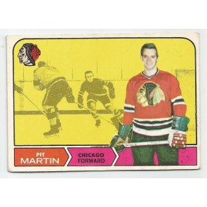 1968-69 O-Pee-Chee OPC Set Break #18 PIT MARTIN Chicago Black Hawks