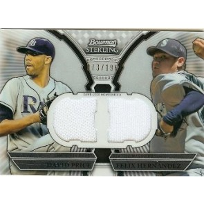 2011 Bowman Sterling David Price Felix Hernandez Dual Relic Card 073/196