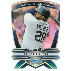 2012 Bowman Chrome Prince Fielder Legends in the Making Diecut