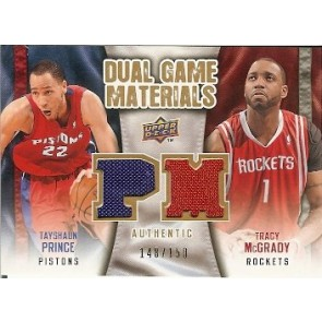2009-10 Upper Deck Dual Game Materials Tayshaun Prince Tracy McGrady 148/150 2 Color