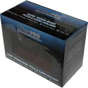Ultra Pro Puck & Card Holder Dark Wood