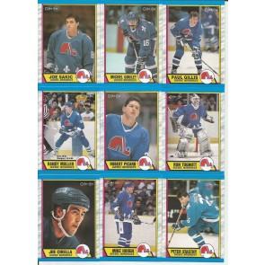 1989-90 OPC O-PEE-CHEE JOE SAKIC RC QUEBEC 14 CARD TEAM SET NM-MT
