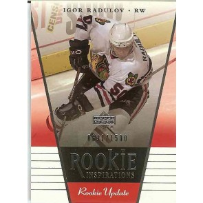 2002-03 Upper Deck Inspirations Igor Radulov Rookie Inspirations 0631/1500