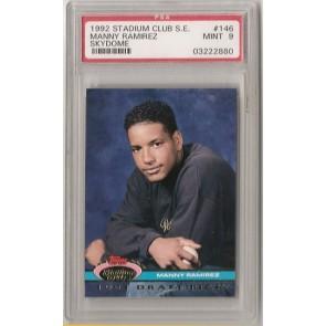 1992 Topps Stadium Club S.E. Manny Ramirez Rookie Graded PSA 9 Mint