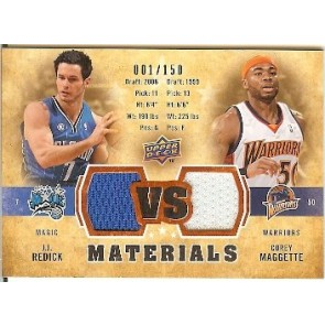 2009-10 Upper Deck Corey Maggette VS Dual Materials  JJ Redick/Corey Maggette 001/150