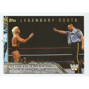 2017 TOPPS LEGENDS OF WWE Legendary Bouts #14 RIC FLAIR BIG BOSS MAN 1992 ROYAL