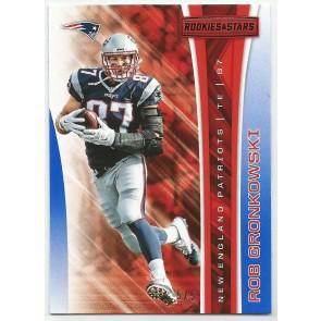 2017 Panini Rookies & Stars ROB GRONKOWSKI RED PARALLEL #'d 5/5 PATRIOTS