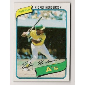 1980 Topps Ricky Henderson Rookie Condition EX