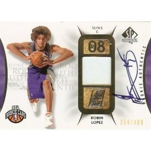 2008-09 Upper Deck SP Authentic Robin Lopez Autograph Rookie Jersey 354/499