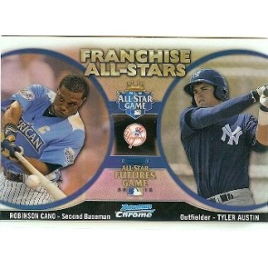 2012 Bowman Chrome Robinson Cano - Tyler Austin Franchise All-Stars