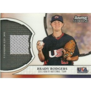 2011 Bowman Sterling Brady Rodgers Refractor Relic Card