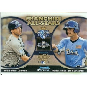2012 Bowman Chrome Ryan Braun - Scooter Gennett Franchise All-Stars